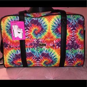 Tie dye luggage bag